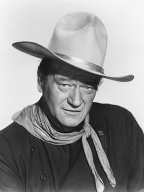 THE MAN WHO SHOT LIBERTY VALANCE, 1962 directed by JOHN FORD John Wayne (b/w photo)