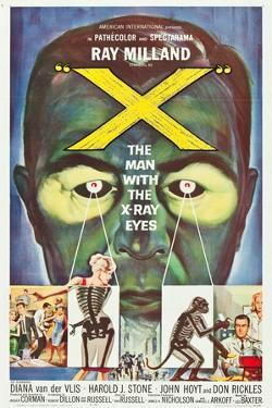 The Man With the X-Ray Eyes, poster art, 1963