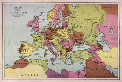 The Map of Europe after World War One