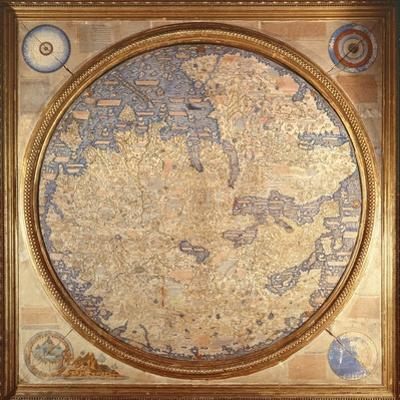The Mappa Mundi of Fra Mauro, a Camaldolese Monk from the Monastery of San Michele in Murano, 1459