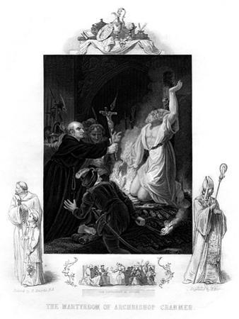 The Martyrdom of Archbishop Cranmer, 1556 by J Rogers