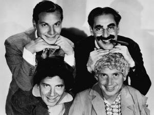 The Marx Brothers, Top Zeppo Marx, Groucho Marx, Bottom Chico Marx, Harpo Marx, Early 1930s