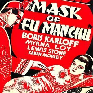 The Mask of Fu Manchu, Boris Karloff, Myrna Loy, 1932
