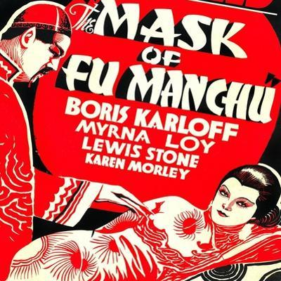 The Mask of Fu Manchu, Boris Karloff, Myrna Loy, 1932