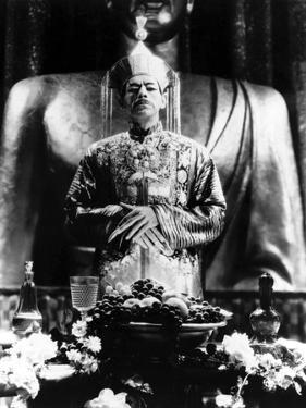 The mask of Fu Manchu by CharlesBrabin with Boris Karloff, 1932 (b/w photo)