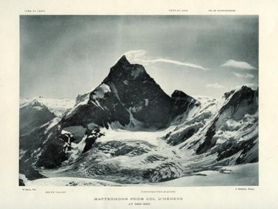 The Matterhorn from the Col D'Herens, Switzerland, C1900 by J Brunner