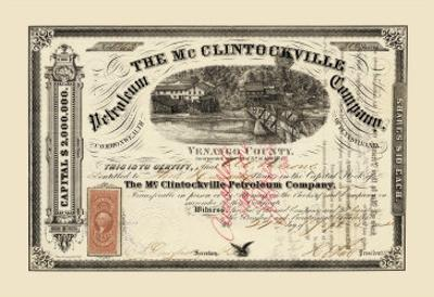 The McClintockville Petroleum Company, c.1864