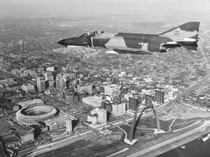 The Mcdonnell-Douglas F-4E Phantom Flies over St Louis