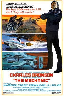 THE MECHANIC, Charles Bronson, 1972.