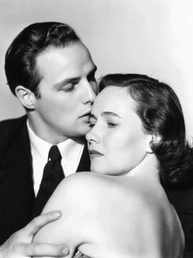 The Men, from Left, Marlon Brando, Teresa Wright, 1950