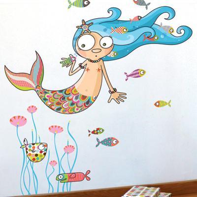 The mermaid Wall Decal
