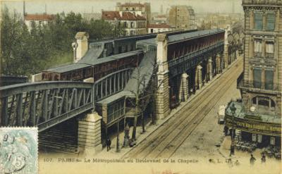 The Metro Goes Above Ground in the Boulevard de la Chapelle