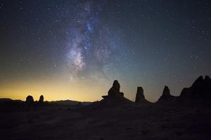 The Milky Way over Trona Pinnacles. Trona, California