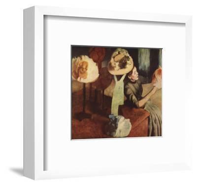 The Millinery Shop-Edgar Degas-Framed Premium Edition