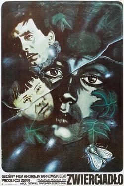 The Mirror, Polish poster, (aka Zerkalo), 1975