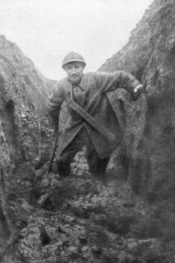 The Miseries of the Soldier, a Muddy French Trench in Artois, France, 1916