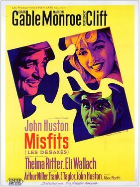 The Misfits, French Movie Poster, 1961