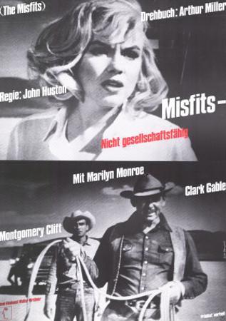 The Misfits, German Movie Poster, 1961