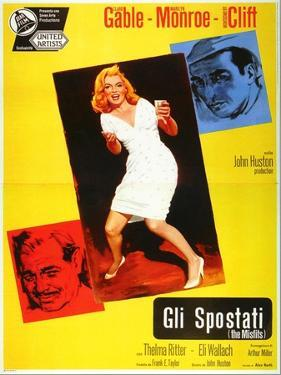The Misfits, Italian Movie Poster, 1961