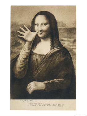 The Mona Lisa Says Goodbye When the Painting is Stolen from the Louvre Paris