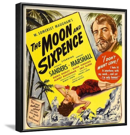 The Moon and Sixpence, Elena Verdugo, George Sanders on Window Card, 1942--Framed Photo