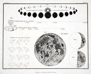 The Moon, Venus and Saturn (Plate XXX), 1822