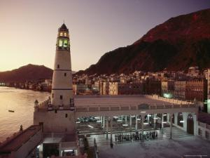 The Mosque of Al-Rawdha at Sunset