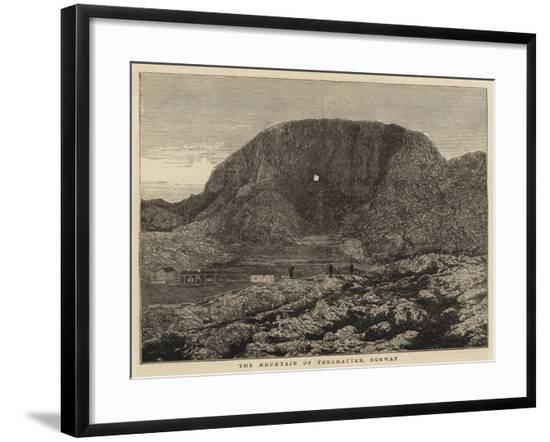 The Mountain of Torghatten, Norway--Framed Giclee Print