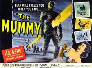 The Mummy, Christopher Lee, Yvonne Furneaux, 1959