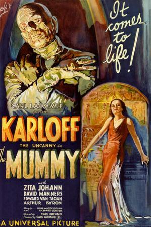 The Mummy Movie Boris Karloff, It Comes to Life Poster Print