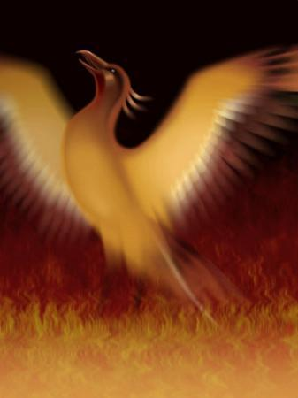 The Mythical Phoenix Rising from Ashes