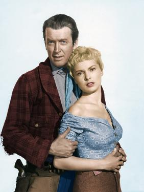 THE NAKED SPUR, 1953 directed by ANTHONY MANN James Stewart and Janet Leigh (photo)