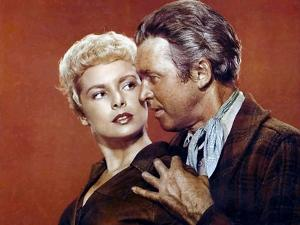 THE NAKED SPUR, 1953 directed by ANTHONY MANN Janet Leigh and James Stewart (photo)