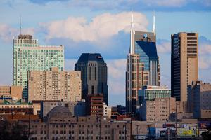 The Nashville skyline as Viewed from the west side and 5 stories above ground