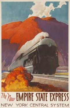 The New Empire State Express, New York Central System Rail Poster