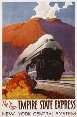 The New Empire State Express Poster by Leslie Ragan