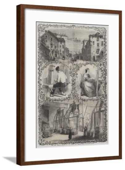 The New French Treaty, Lyons and French Silks--Framed Giclee Print