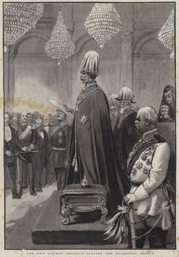 The New German Emperor Opening the Reichstag, Berlin