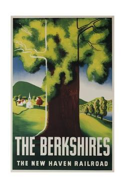 The New Haven Railroad Advertising Travel Poster, the Berkshires