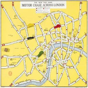 The New Map Game : Motor Chase across London, ca. 1925