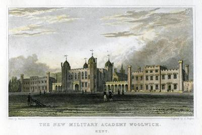 The New Military Academy Woolwich, Kent, C1829 by J Rogers