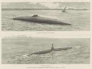 The New Spanish Submarine Torpedo-Vessel, El Peral, at Cadiz