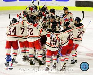 The New York Rangers Celebrate Winning the 2012 NHL Winter Classic