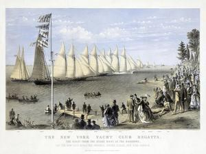 The New York Yacht Club Regatta, Pub. Currier and Ives, 1869