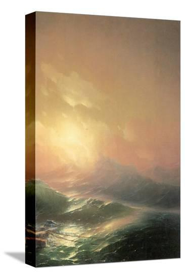 The Ninth Wave (right detail)-Iwan Konstantinowitsch Aiwasowskij-Stretched Canvas Print