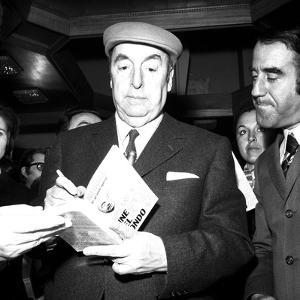 The Nobel Prize Laureate Pablo Neruda Presents His Latest Book 'Fine Del Mondo' in Milan, 10th…