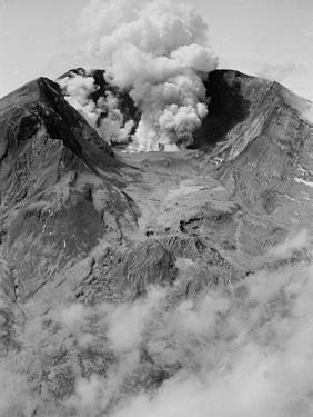 The North Side of Mount St. Helens is Wide Open as the Volcano Starts to Erupt