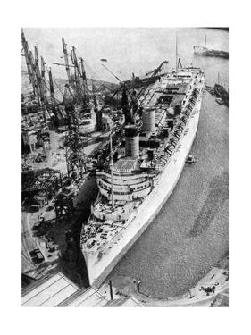 The Ocean Liner RMS Queen Mary, Clydebank, Glasgow, 1934