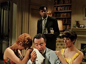 The Odd Couple, Carole Shelley, Jack Lemmon, Walter Matthau, Monica Evans, 1968
