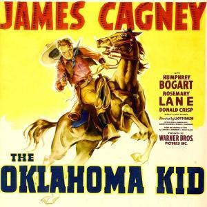 THE OKLAHOMA KID, James Cagney on window card, 1939.